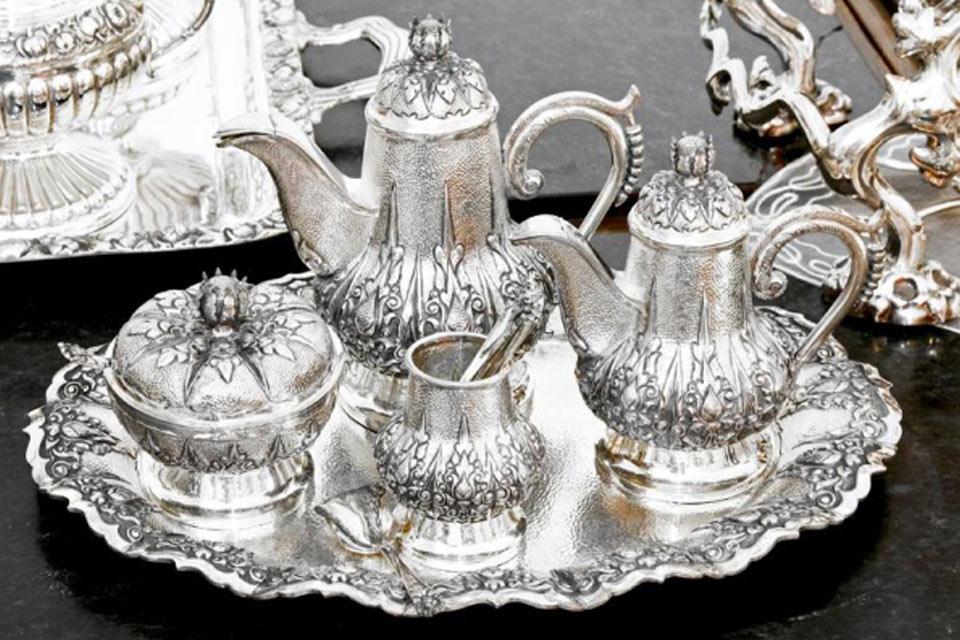 set teiere di argento