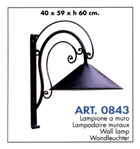 Lampione a muro