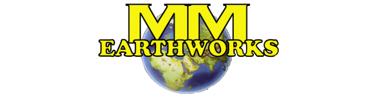 m and m earthworks logo