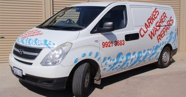 clarkes washing machine repairs van