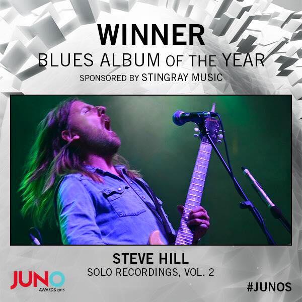 Steve Hill Juno Winner