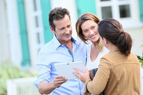 tenants looking at rental property