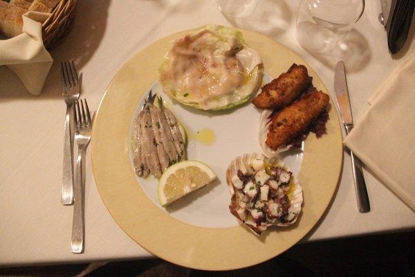 Piatto di pesce a Milazzo