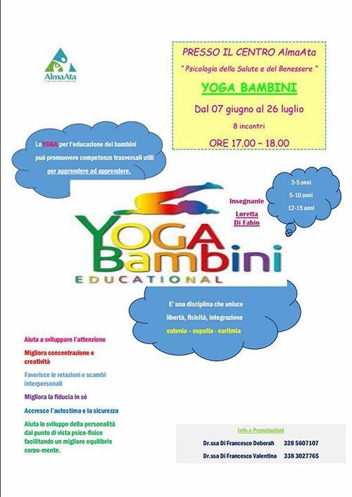 Promozione per Yoga Bambini