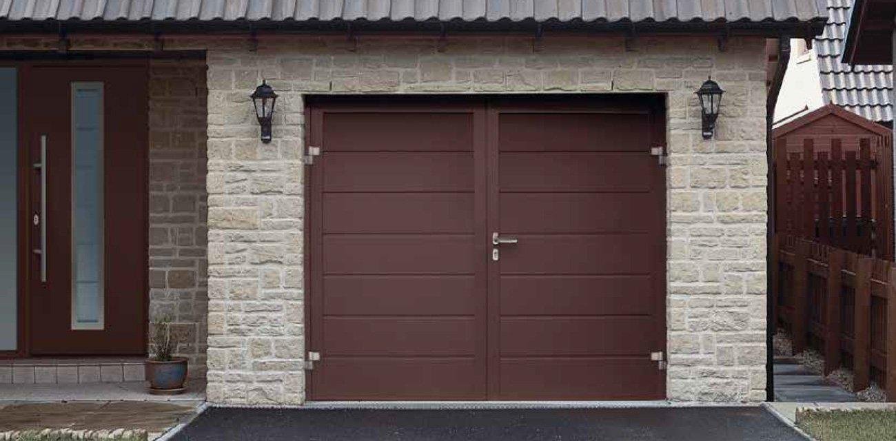 Double Hinged Garage Doors : Hinged garage doors in swansea neath south wales john