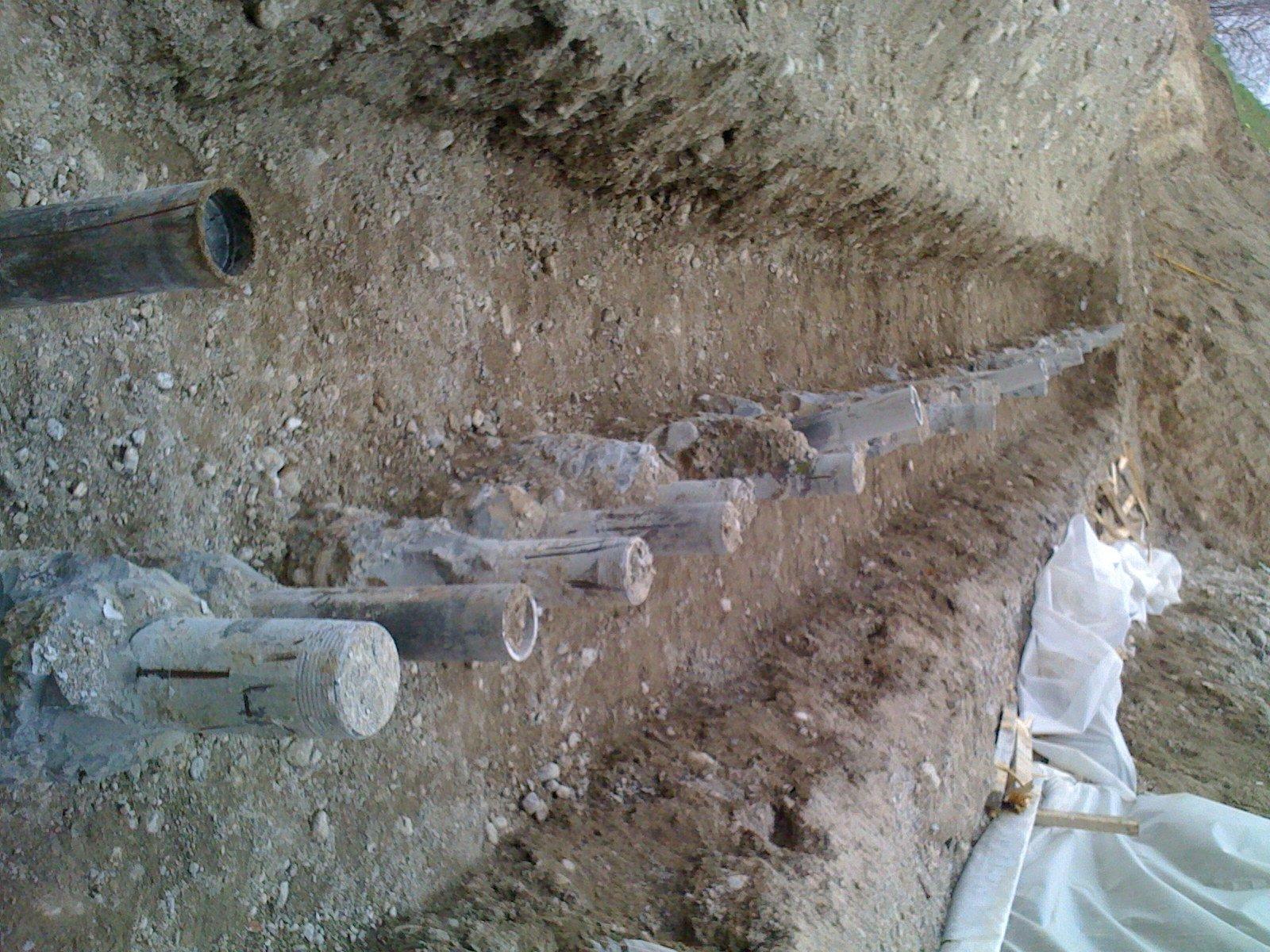 Dettagli di uno scavo