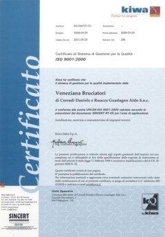 Certificato Sincert Veneziana bruciatori