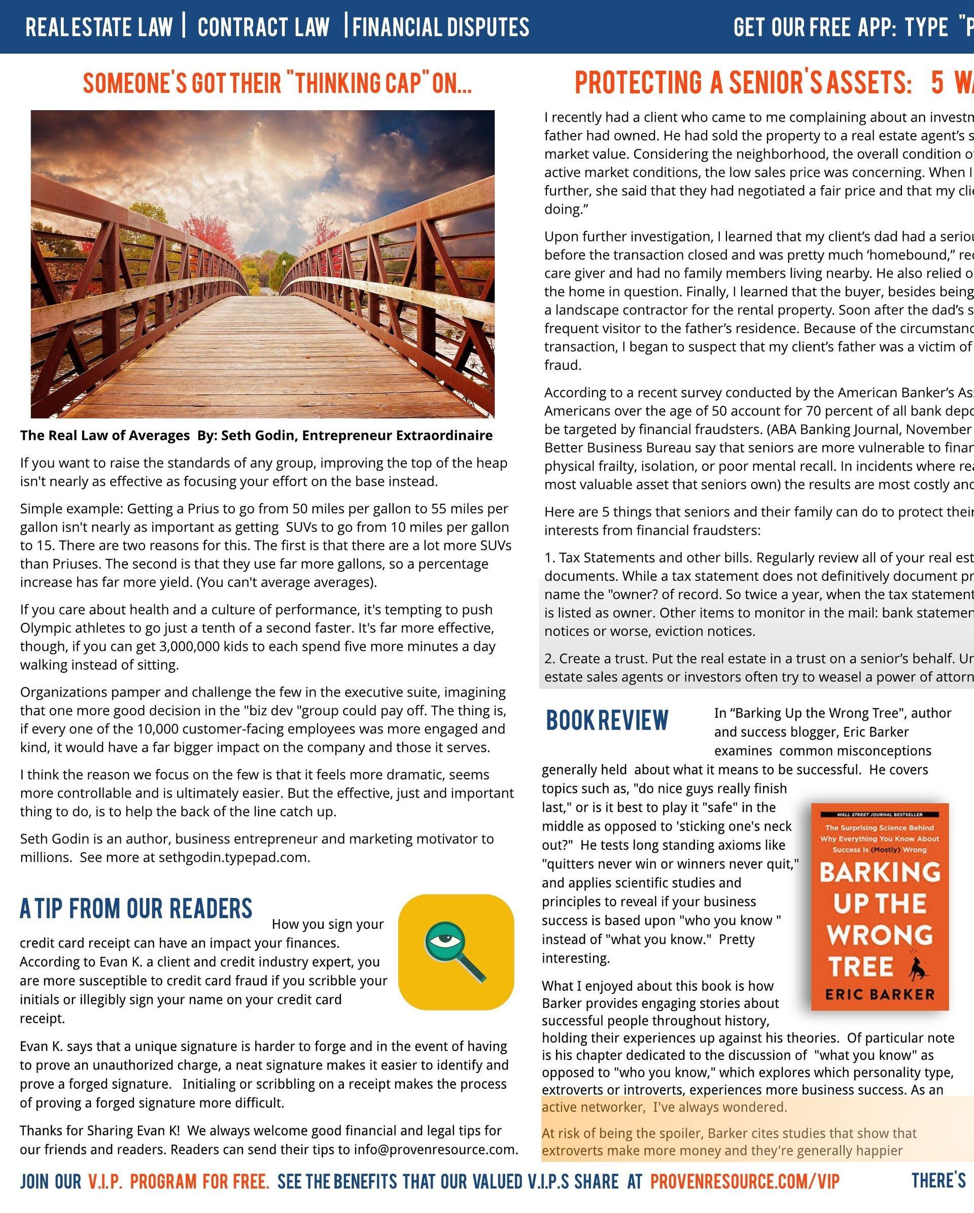 Proven Resource Newsletter Octoberish 2017