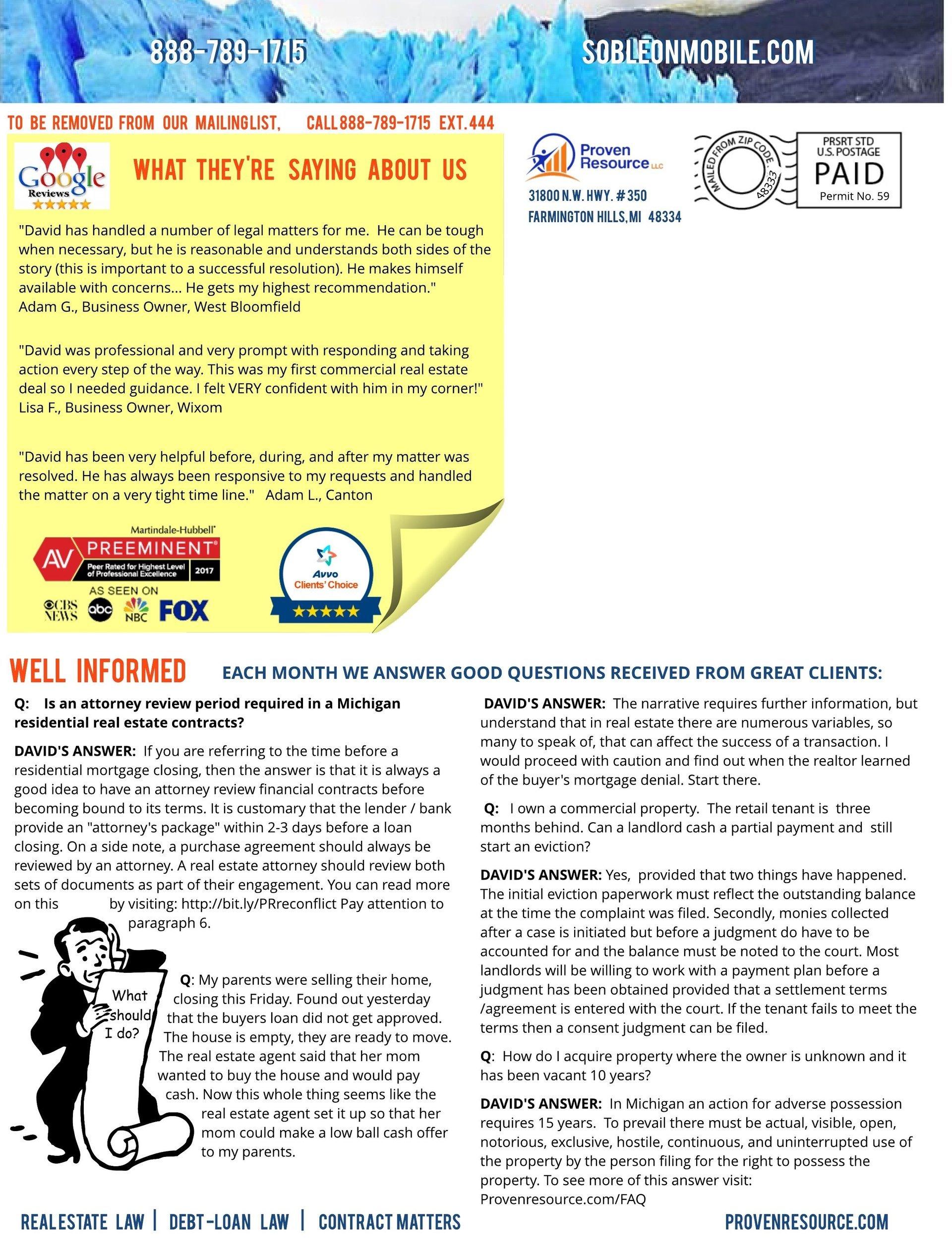Proven Resource Newsletter Octoberish 4