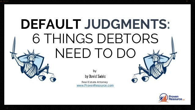 6 Things Debtors Need To Do