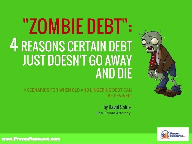4 Reasons Zombie Debt Doesn't Go Away