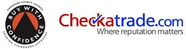 Buy with Confidence & Checkatrade logos