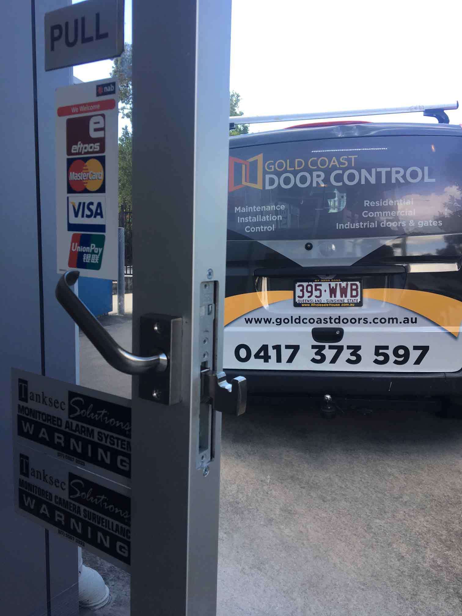 back of gc door control van