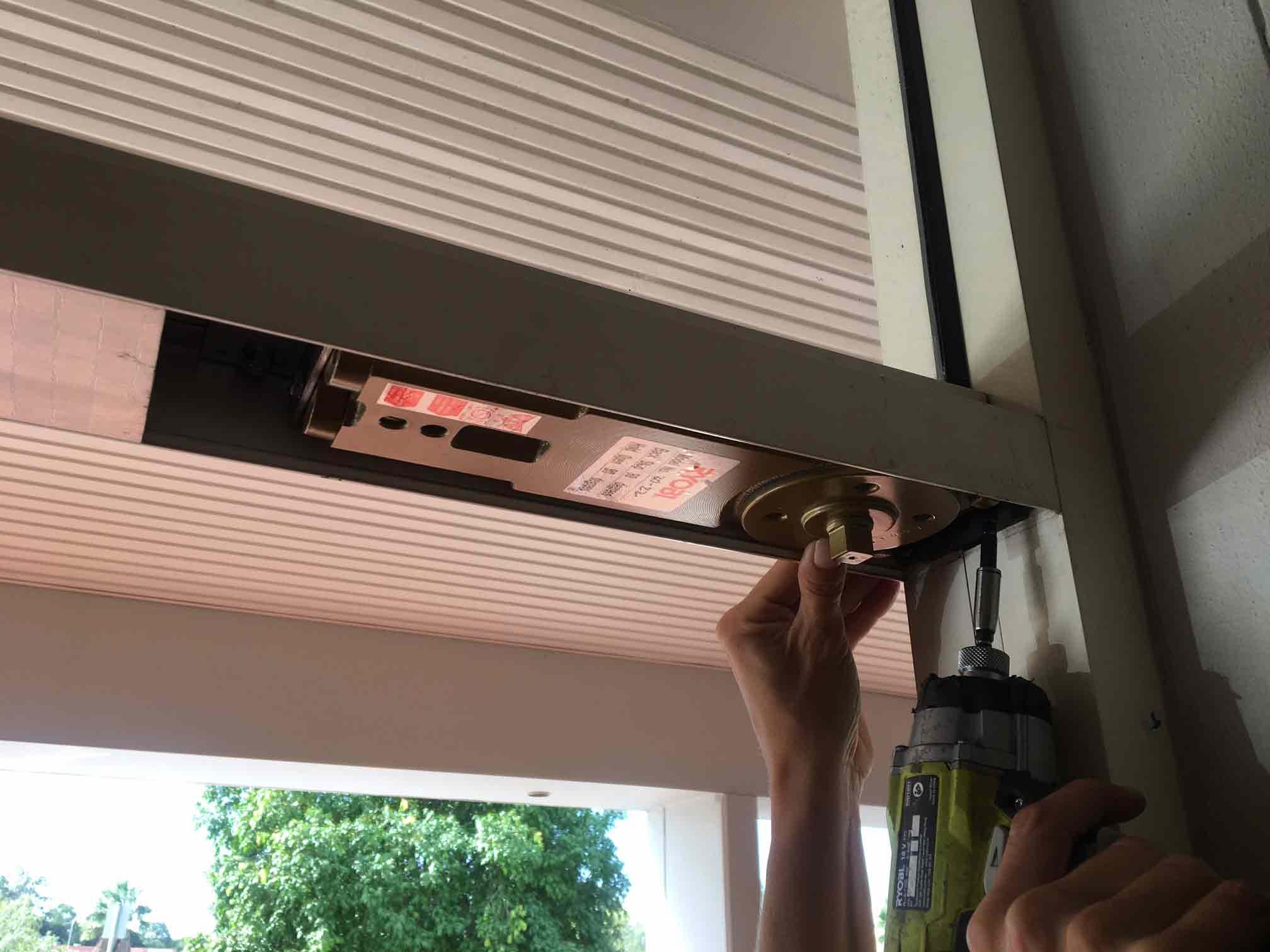 working on door controls