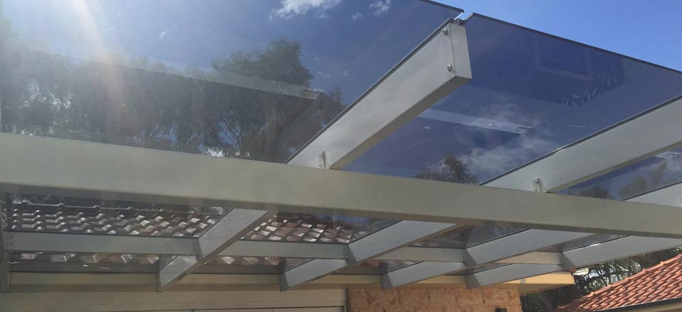 glass sunroof for a deck