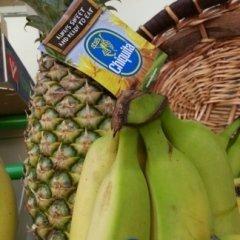 banane ciquita, ananas, ciliege,