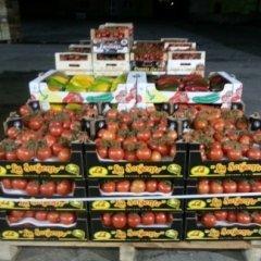 pomodori, peperoni gialli, peperoni rossi,