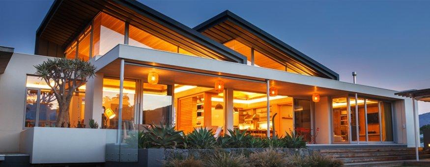 house full of lights