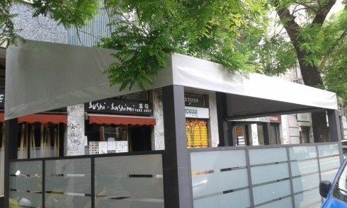 coperture per ristoranti in pvc