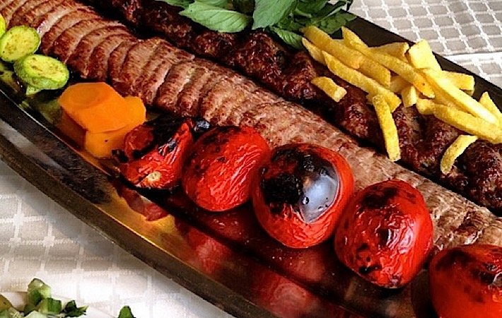 Eat The Best Chelo Kabab at Alborz Tehran