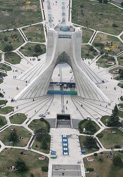 Azadi tower , tehran attraction , tehran highlights