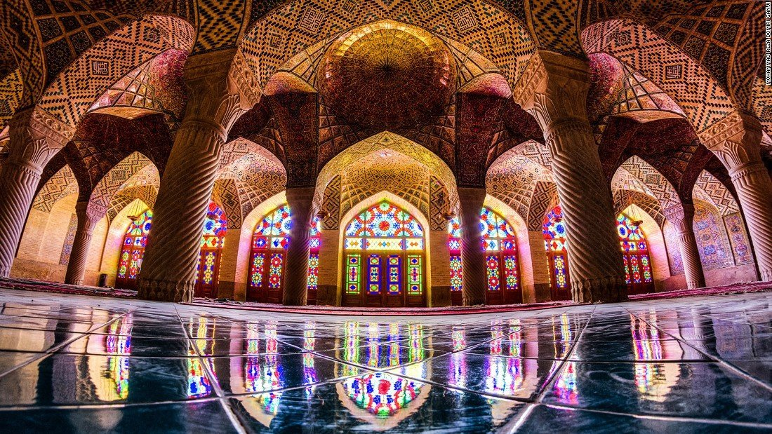 shiraz attractions , iran attractions , nasir al mulk mosque , pink mosque , iran mosque