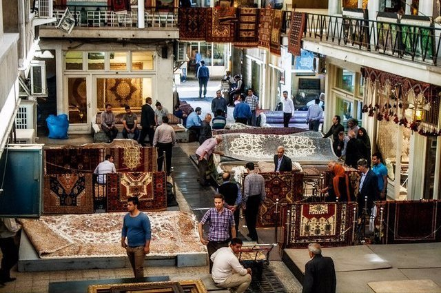 iran carpet market , tehran carpet bazaar