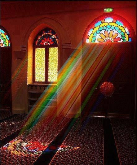 pretty mosque , colorful mosque , rainbow mosque , iran mosque