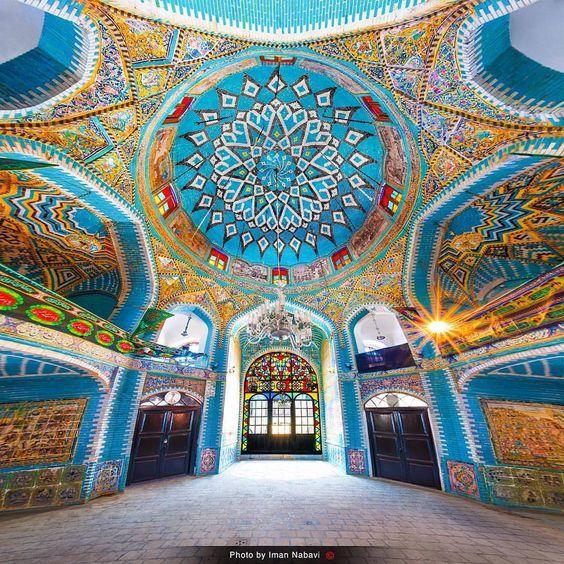 beautiful mosque , iran mosque