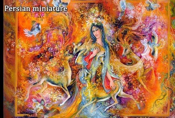 Iranian miniator, iranian painting