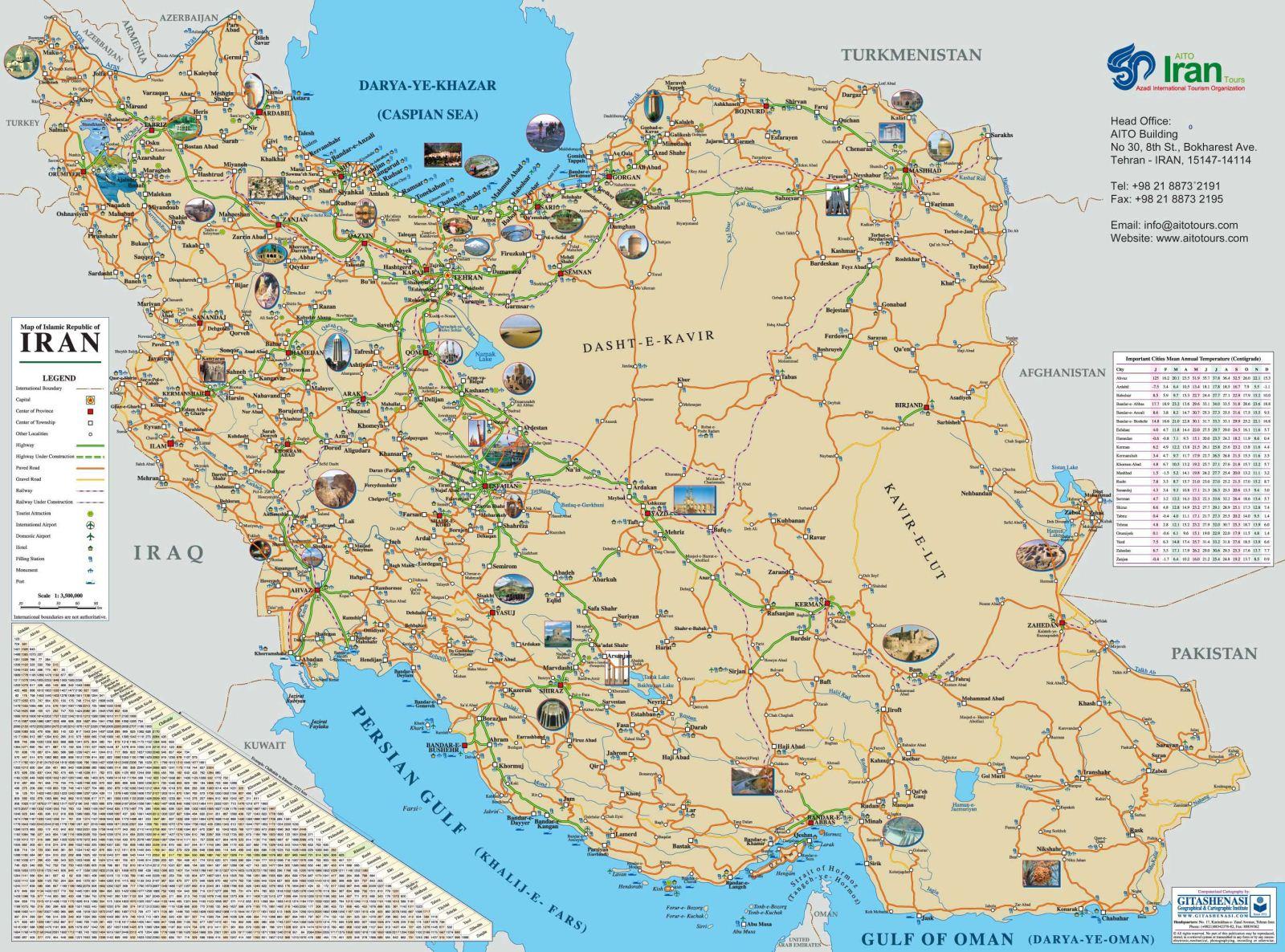 Iran Karta - Iran map