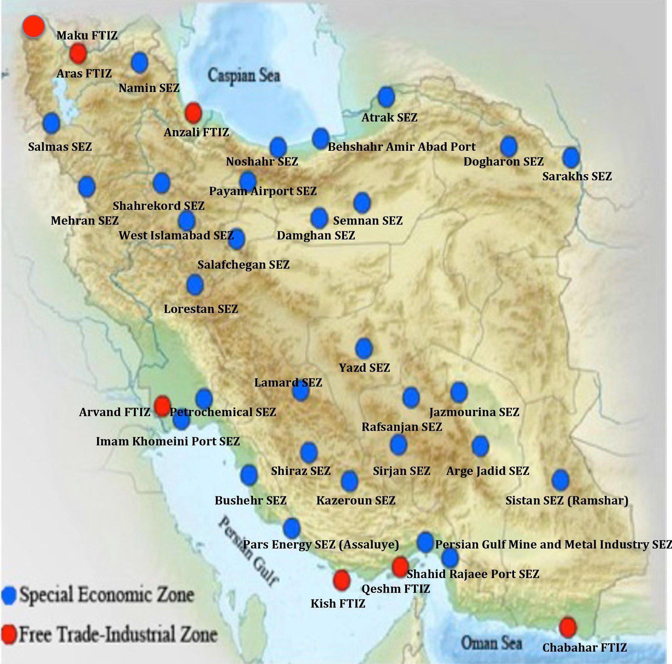 Iran Special Economic Zones