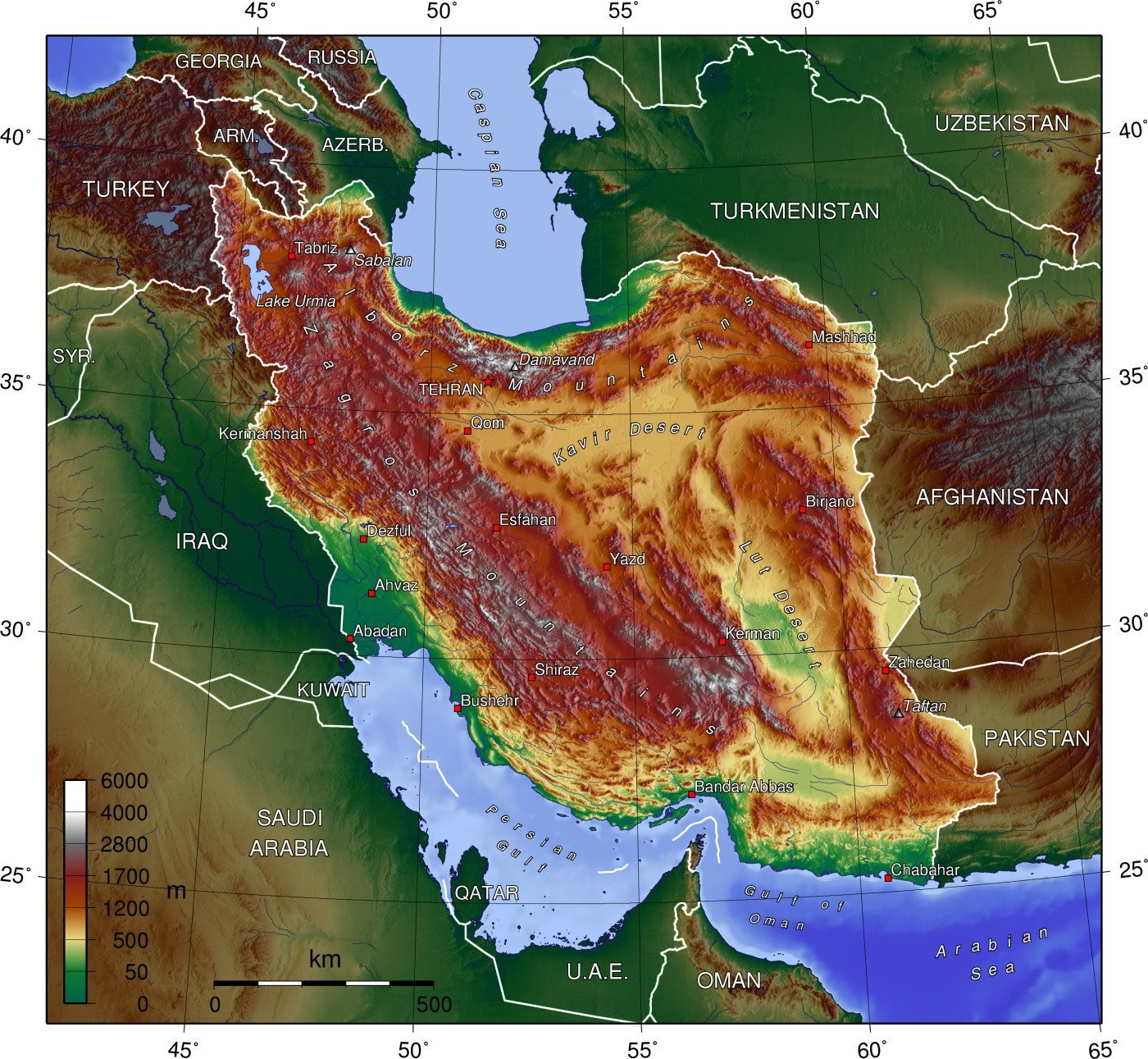 Iran Geography Map