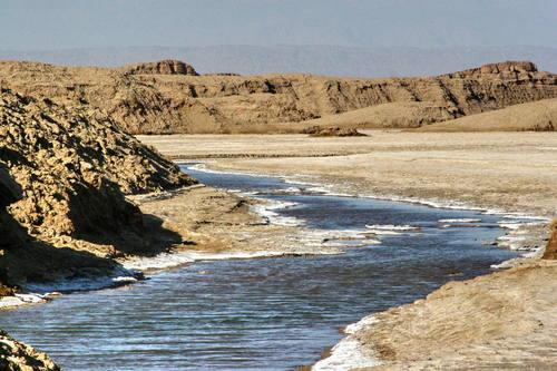 Iran desert, lut desert, river desert , river in desert