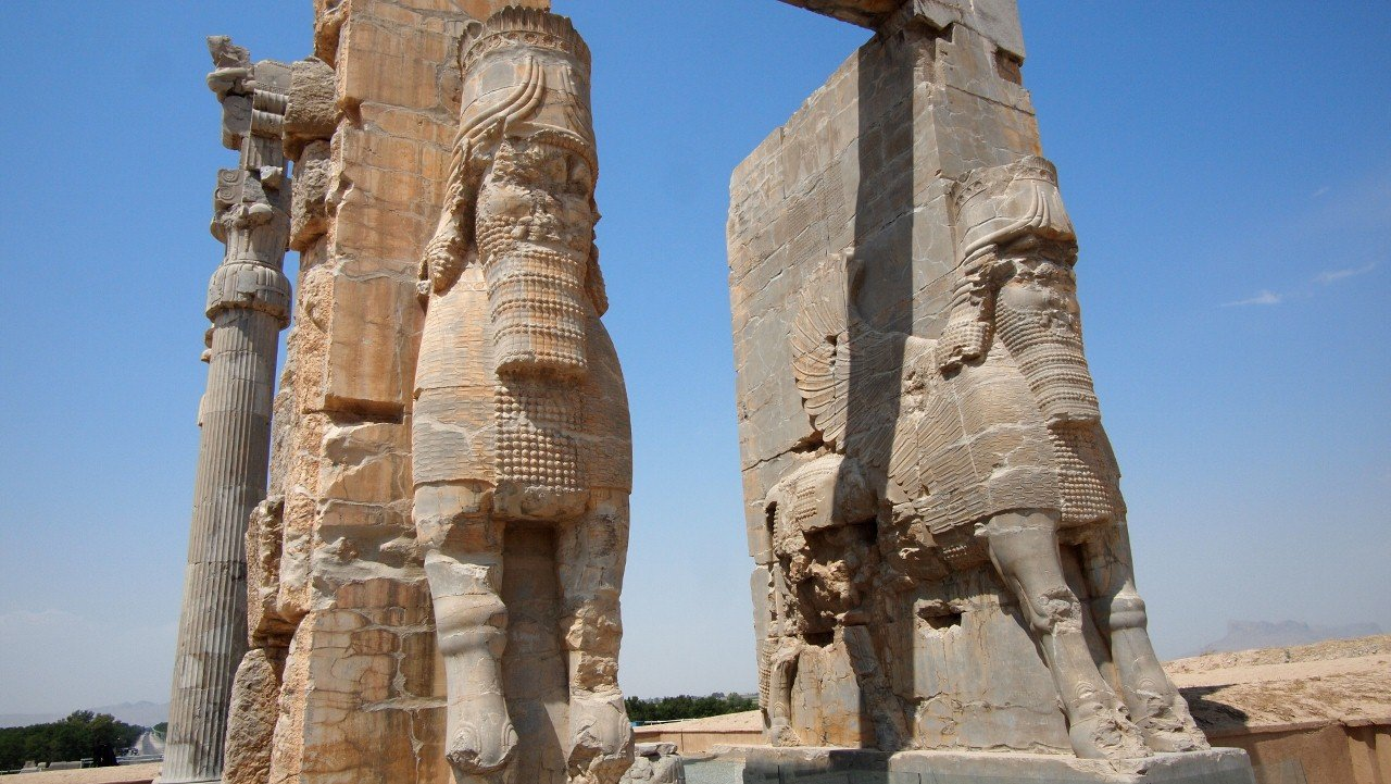 persepolis , persepolis iran, gate of all nations, gate of xerxes
