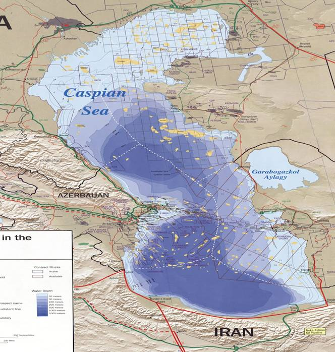 Iran Caspian Sea Map