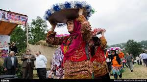 iranian culture , girl bring gift, iranian wending