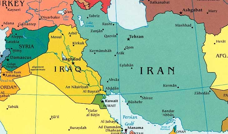 Iran Map - Map of iran