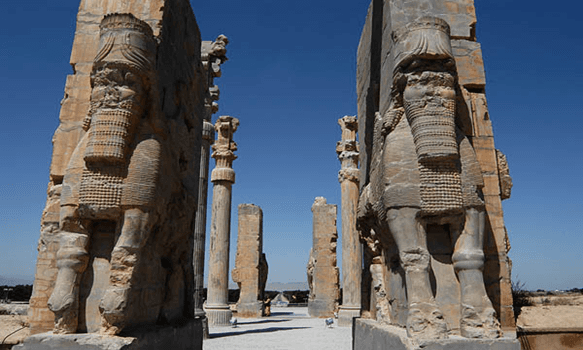 persepolis ,gate of nations  , iran ancient city , ancient stone carving