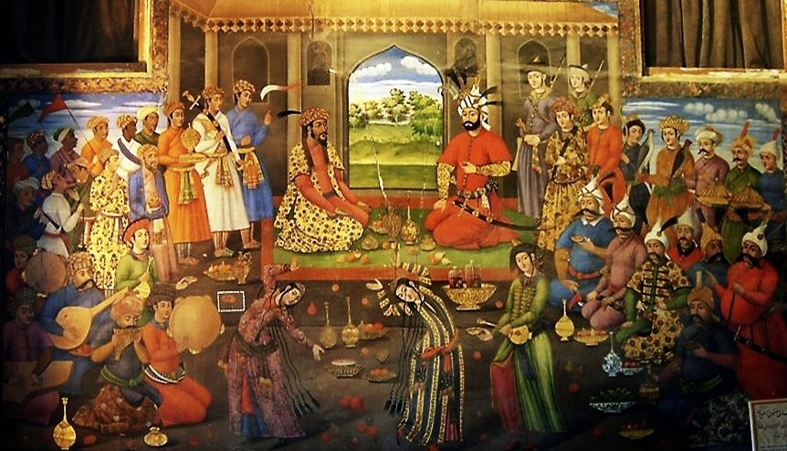 nowruz , king, Iranian wall painting