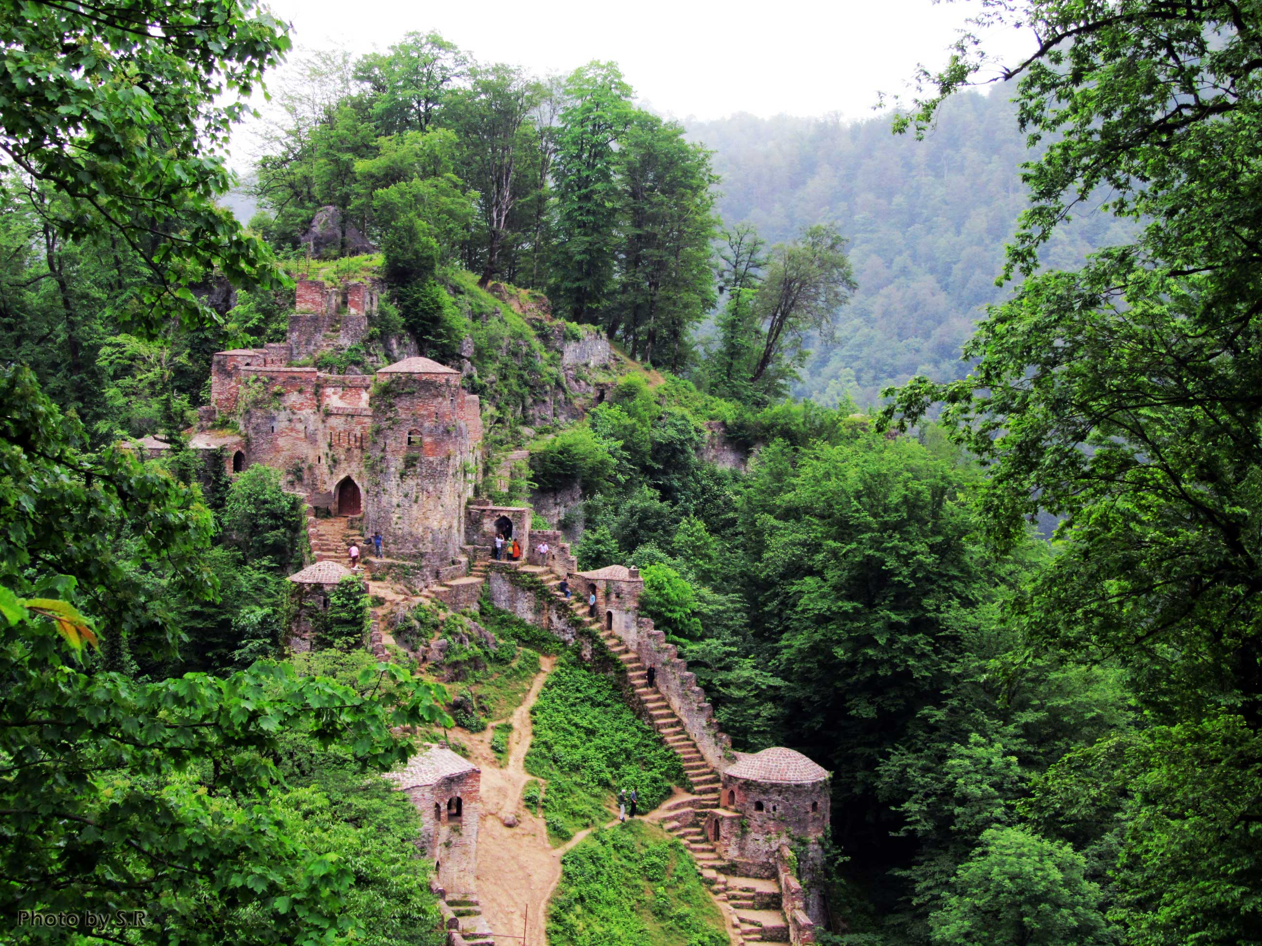 Rudkhan Castle in Gilan , Iran