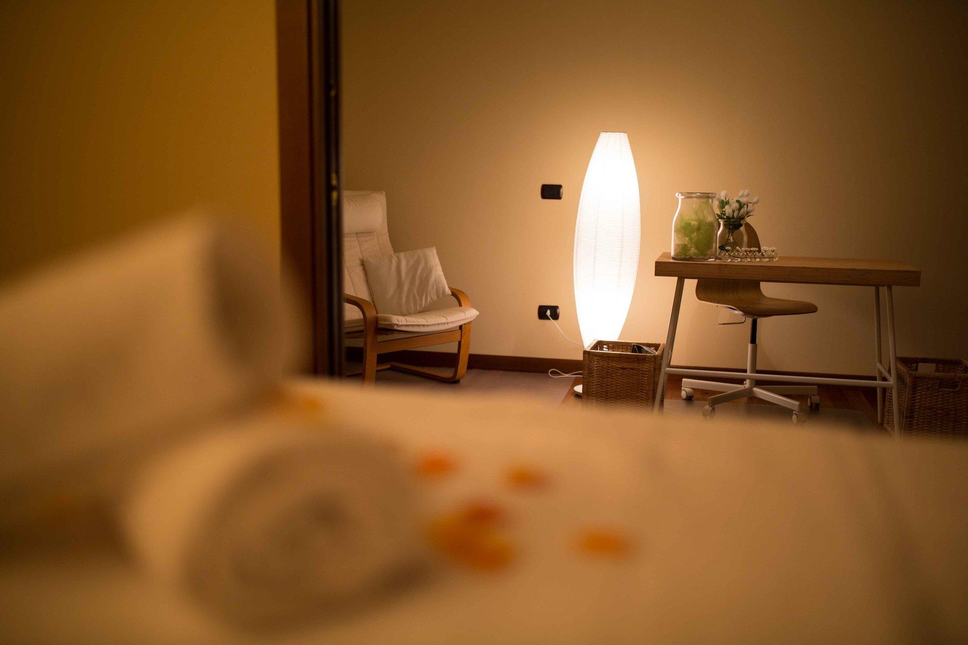 dettaglio sala massaggio
