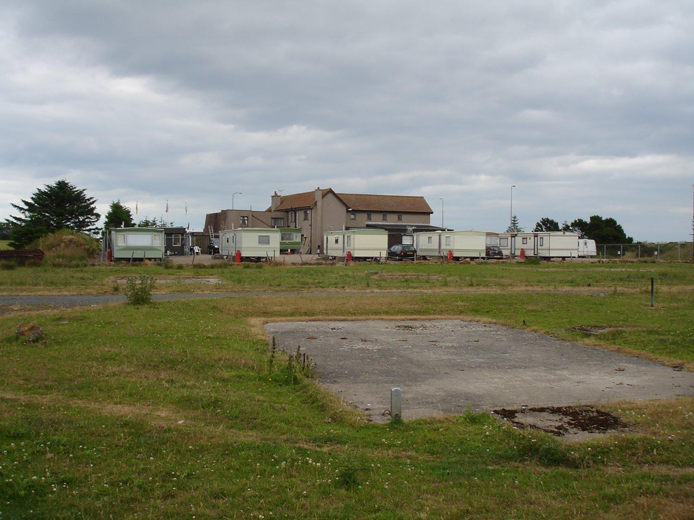 long distance view of a parking lot for caravans