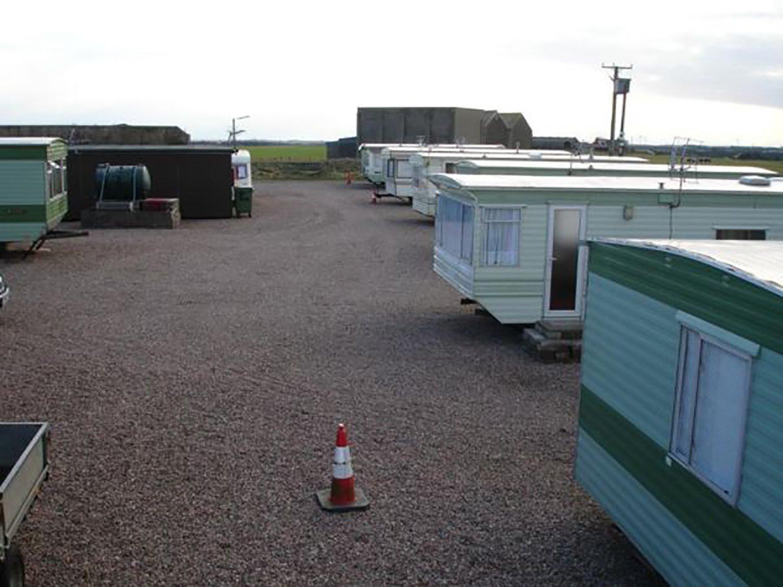 parking lot full of caravans