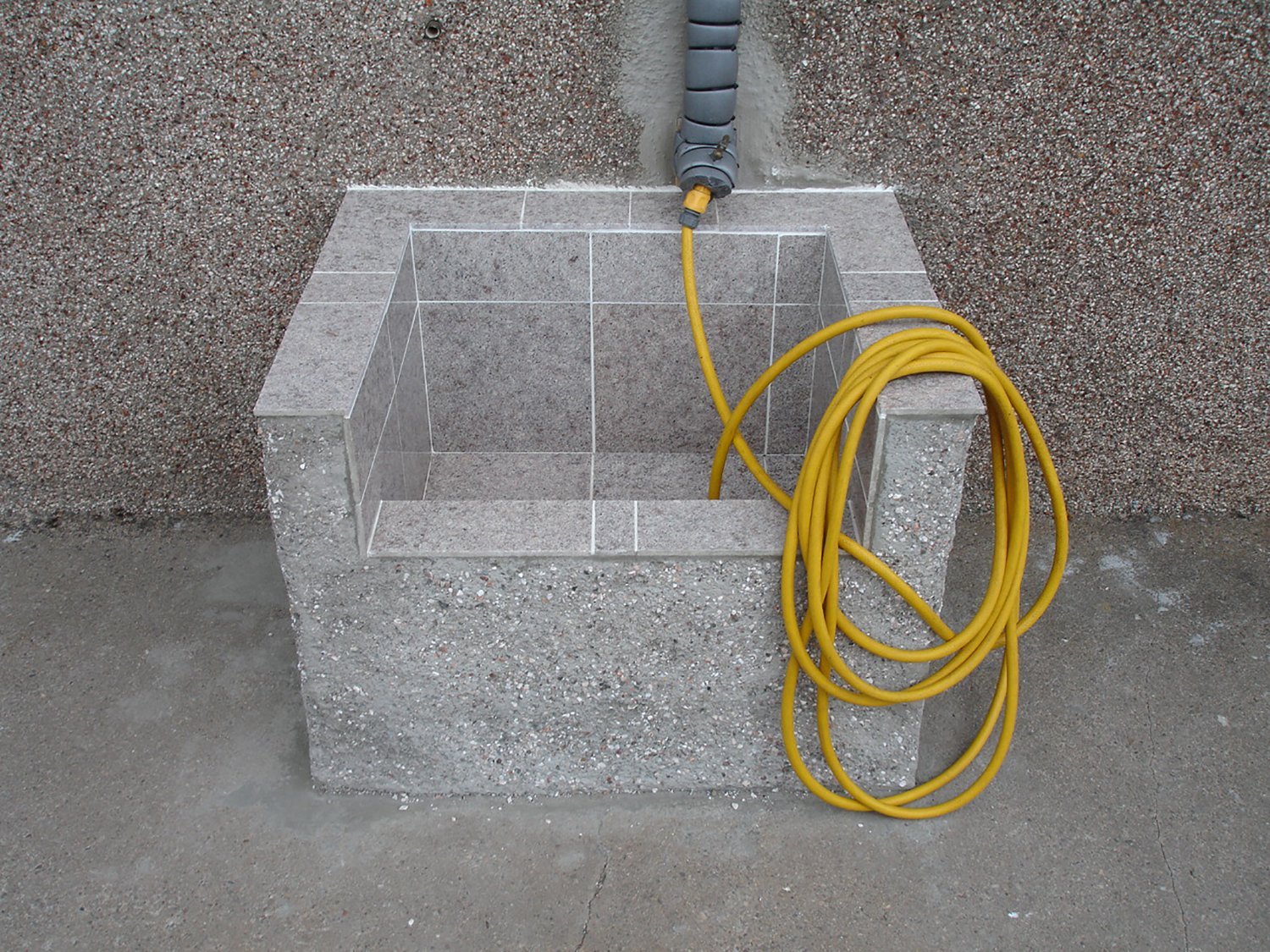 place with a water hose