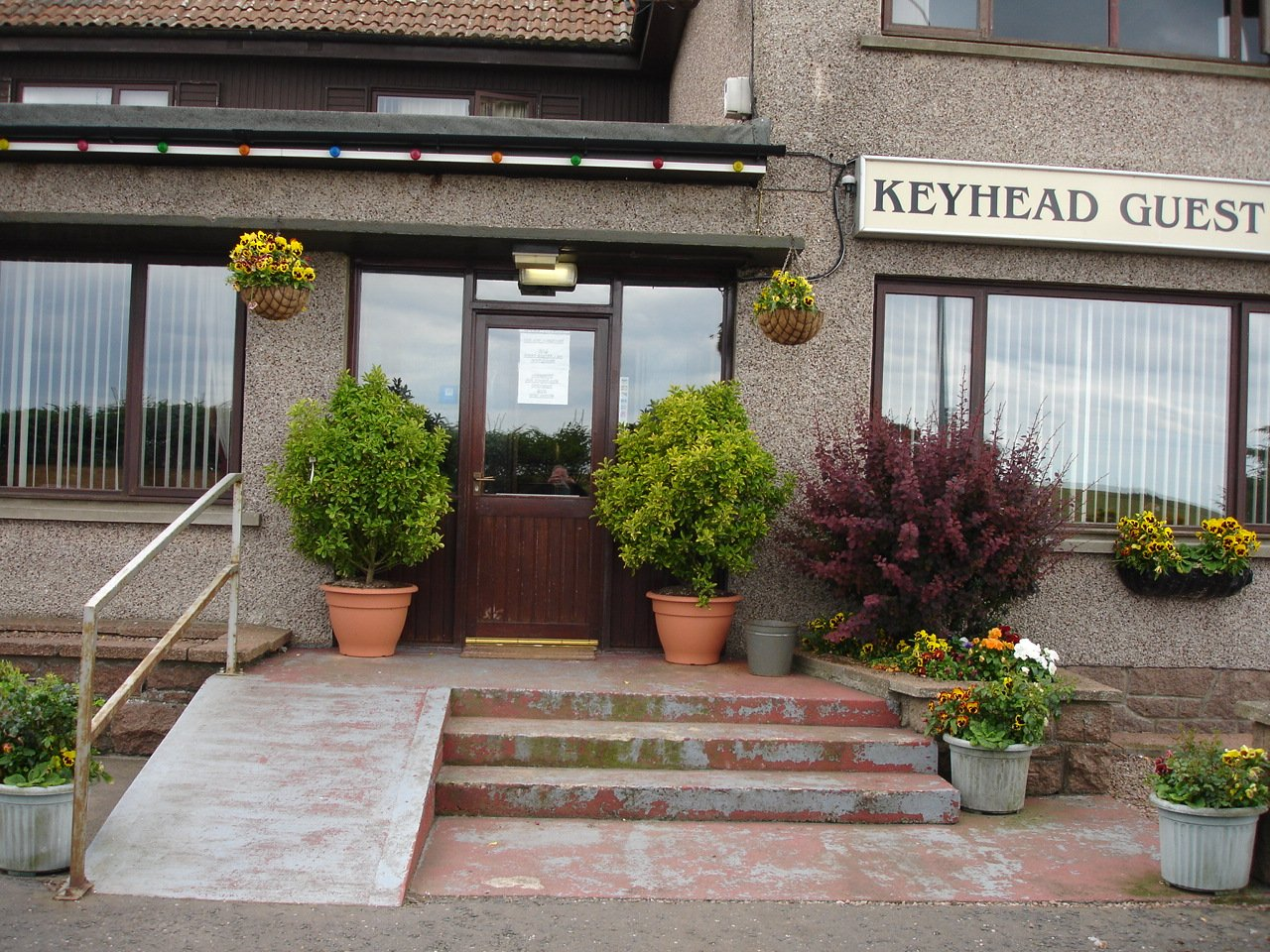 the entrance of the keyhead gues house