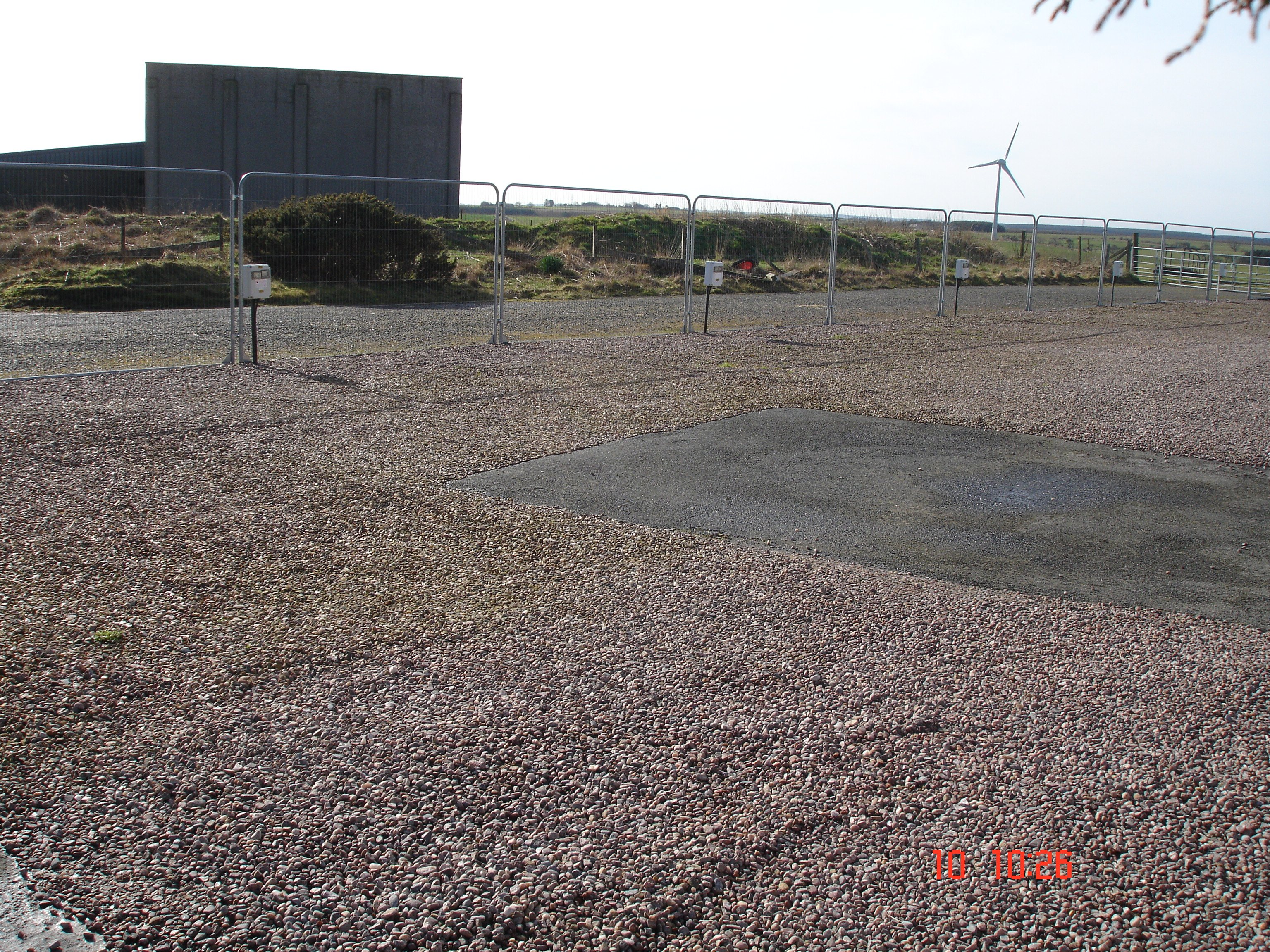 a fenced empty ground