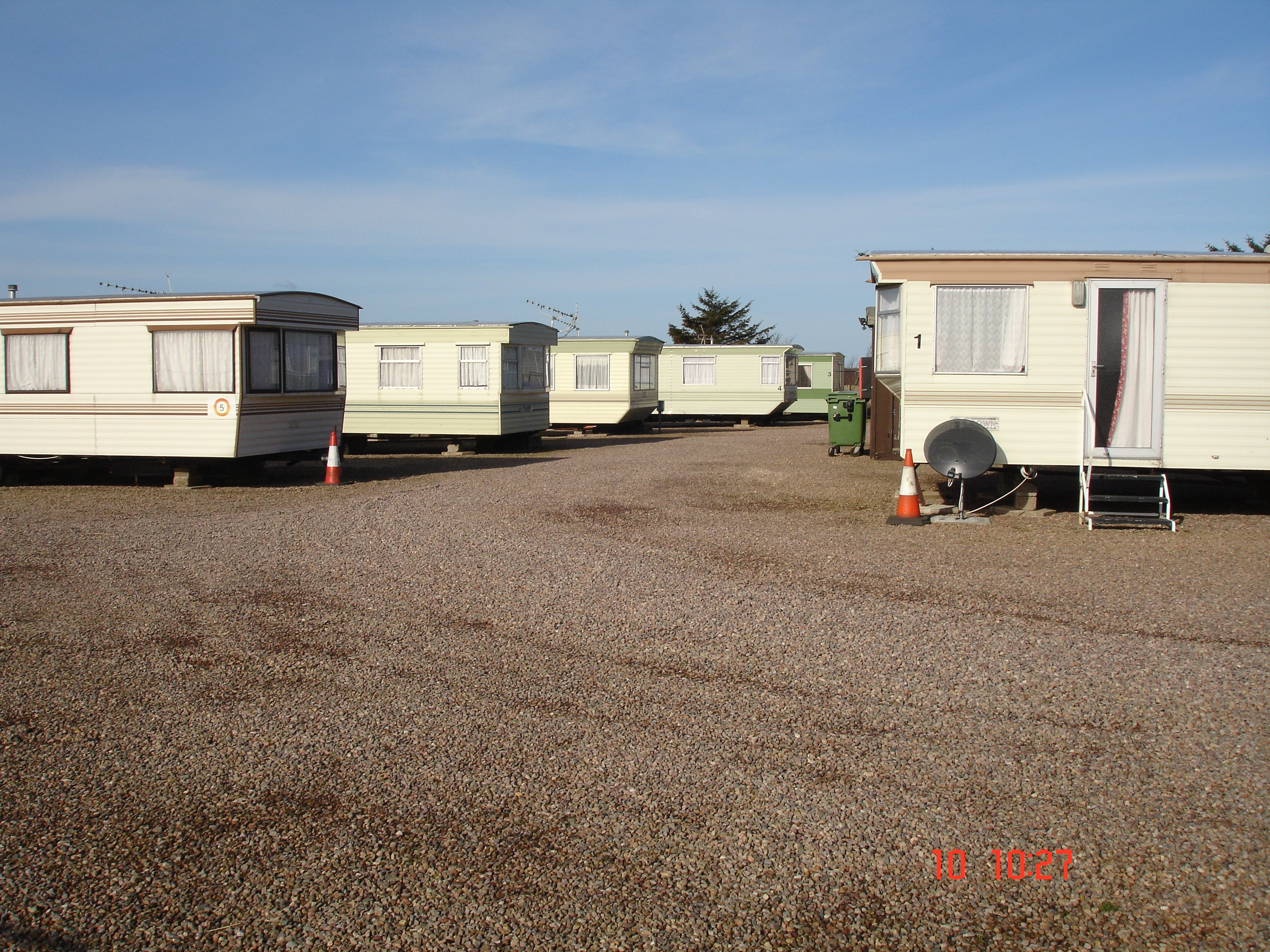 multiple carvans parked