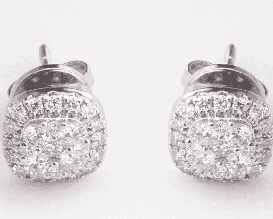 Orecchini in oro bianco e diamanti taglio brillante