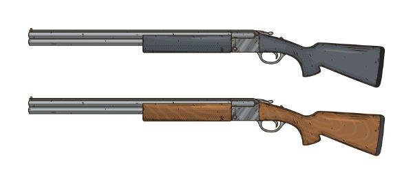 due fucili da caccia